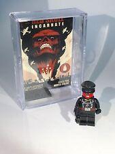Red Skull MINIFIGURE wMini Movie Poster Display Case Lego Custom Minifig