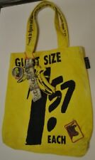 Andy Warhol Loop NYC Canvas Giant SizeTote Bag in Yellow USED