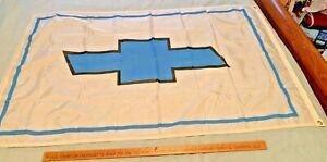 1980's Blue / White 3' x 5' Chevrolet Bowtie Dealer's Flag  - Free Shipping