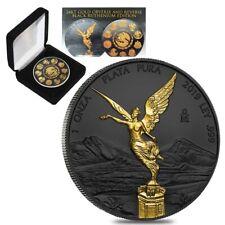 2019 1 oz Mexican Silver Libertad Coin .999 Fine Black Ruthenium (w/Box & COA)