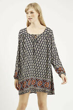 Viscose Long Sleeve Boho, Hippie Regular Dresses for Women