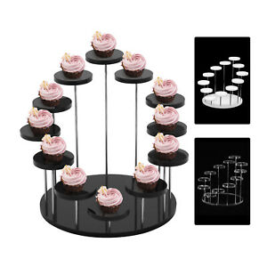 Mini Cupcake Stand Acrylic Display Stand For jewelry Cake Dessert Rack Party UK