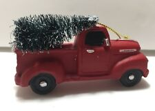 Red Pick Up Truck Tree Christmas Ornament Vintage Style New Country
