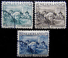 NED NVPH 229 - 231 Rembrandt-zegels 1930 prachtig gebruikt CW 25,-