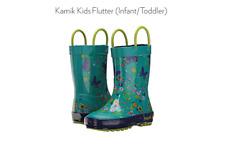 Kamik Kids Flutter Rain Boots Size 10 Teal Color