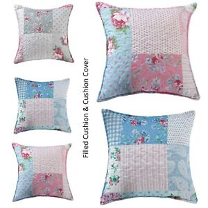 """Stylish Luxury Home Decor Quilted Printed Cushion Cover & Filled cushion 18""""x18"""""""