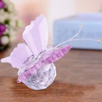 Rosa Figur Kristallfigur Glasfigur Schmetterling Briefbeschwerer Hochzeit og