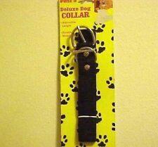 Dukes Black Nylon Medium Breeds Dog Collar Made in USA Adjustable New