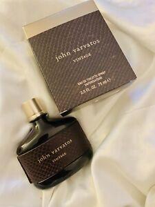 John Varvatos~ VINTAGE~ 75ml ~ Eau De Toilette~ Spray~ Men's Perfume~ Authentic