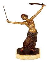 Wiener Bronze - Erotische Schwert-Tänzerin / Orientale - gestempelt