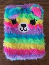 """Smiggle fluffy Bear Mini Tablet Case Cover Bag Kids Girls Universal 6"""" 7"""" 8"""""""