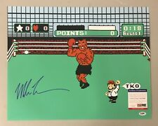 Mike Tyson Signed 16x20 Nintendo Punch-Out Photo PSA/DNA COA Boxing HOF