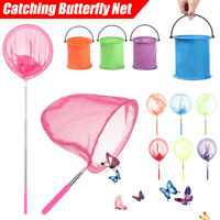 Kids Children Extendable Rod Insect Butterfly Net Mesh Pocket Fishing Fish Catch