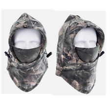 Windproof Fleece Neck Cover Face Mask Camo Balaclava Hat Hood for Hunting Ski