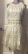 SASS & BIDE The Balancing Act Ivory Beige Dress Size US 10 (AU 44/UK 14)