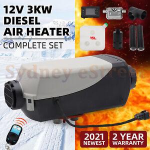 12V 3KW Diesel Air Heater 15L Tank Remote Control Thermostat Caravan Motorhome