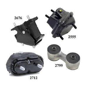 4PCS Motor &Trans Mount FIT 91-92, 94-96 Fits Oldsmobile Cutlass Supreme 3.4L -