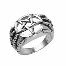Pentacle Rings Jewelry Party Gift Anel Punk Hip Hop Pentagram Star Dragon Claw