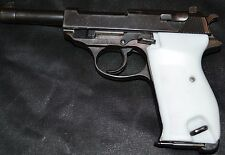 Walther P38 Mauser P38 pistol grips pure white plastic with screw