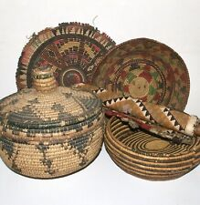 A Collection Of Native American Basketry. Possibly Pima.