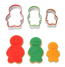 Dexam Jelly Baby Family 3 Piece Cookie Biscuit Pastry Cutter Set Stainless Steel