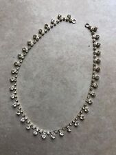 New Crystal Necklace or Trim for Sweater 14 inches
