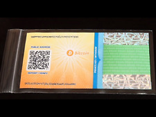 Cold Storage 0.01 BTC - Bitcoin Paper Wallet - Sent VIA Secure Direct Mailing