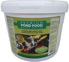 Pond Sticks 1.4kg 10L Bucket Floating Koi Goldfish Fish Food & FREE Feeding Ring