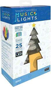 Bluetooth Speaker Box Smart LED Christmas Tree Music Lights with Integrated
