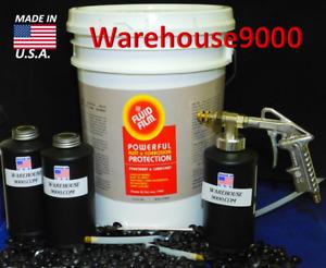 5 GALLON PAIL FLUID FILM NAS & PRO Spray Gun Kit w/ 100 rust plugs Made in USA