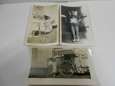 Lot of 3 Vintage Collectible Farm Photos(baby's,children,farm machinery,antique