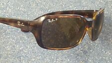 Ray Ban P Polarized Brown Square Designer sunglasses Made in Italy RB Cover