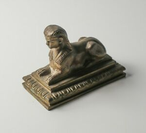 Continental Bronze Egyptian Revival Sphinx figure / paperweight, bronze. c1920