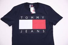 TOMMY HILFIGER NAVY BLUE T-SHIRT SIZE S CASUAL LOGO ON