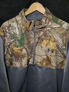 Men's Under Armour Cold Gear 1/4 Zip Pullover Jacket Camo Realtree Size 3XL