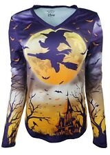 Disney Minnie Mouse Witch - Flying over The Haunted Mansion Long Sleeve Shirt S