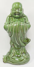 Ceramic Buddha Statue  16 inches high  Distressed Finish in Meditative Pose
