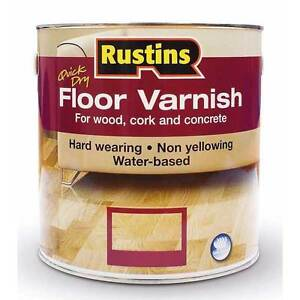 Rustins Quick Dry Floor Varnish Satin Clear 1 Litre For Wood & Other Hard Floors