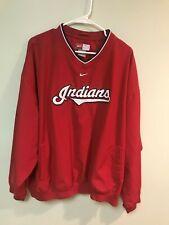 Cleveland Indians Nike Long Sleeve XXL V-Neck Pull Over Jacket