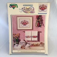 Cross Stitch Pattern Booklet Victorian Powder Room Roses Cherubs Angels by Ford