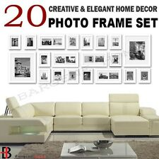 20 pcs Picture Photo Frame Set Wall White 220 x 80cm Home Decor Art Colour Gift