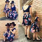 Women Girl Kids Toddler Family Match Summer Lace Floral Party Dress Sundress New