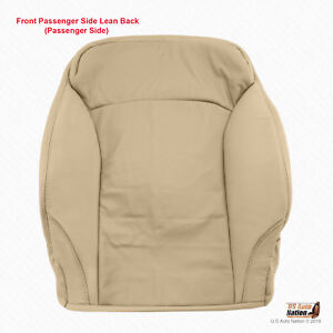 PASSENGER TOP PERFORATED LEATHER SEAT COVER TAN FOR 2006 TO 2013 LEXUS IS250