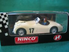 NINCO 50159 Jaguar XK120 cream #17  SCALEXTRIC COMPATIBLE BNIB