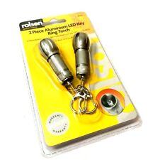 Pack Of 2 LED Mini Aluminium Keyring Torches