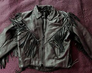Leather Jacket with fringe