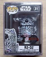 Funko Pop Star Wars R2-D2 Futura Edition + Hard stacks  Case Protector 31