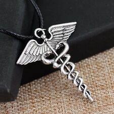 Percy Jackson Angel Wings Magic Wand Caduceus Pendant Necklace Christmas Gift C1