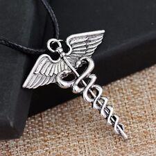 Percy Jackson Angel Wings Magic Wand Caduceus Pendant Necklace Christmas Gift C1