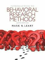 Introduction To Behavioral Research Methods por Leary, Mark de R